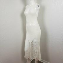 Handmade Crochet Dress One of a Kind Little White Prairie Fairy Women Si... - $189.99