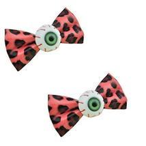 2 Zipper Watermelon Back Leopard-print Bowknot Eye Ball Hair Clips/Barrettes