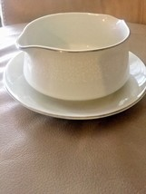 Gravy Boat Crown Victoria Fine Bone China Bowl With Under Plate Server D... - $29.08