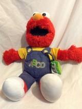 2008 Sesame Street Elmo Singing Talking ABC Plush Doll Overalls Fisher P... - $12.19