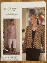 Loes Hinse Design Bolero Jacket 5106 Petite Through Plus Sewing Pattern ... - $9.89