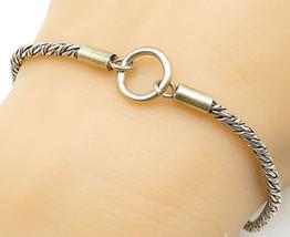 925 Sterling Silver - Vintage Petite Twist Snake Link Chain Bracelet - B... - $31.14
