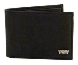MEN'S LEVI'S PREMIUM CLASSIC LEATHER BLACK BIFOLD WALLET 31LV13A7 W/ DEFECT image 2