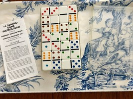 Cardinal Double 6 Color Dot Mexican Train Dominoes in case NWOT w/instru... - $9.00