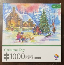 """hNCL 1000 Piece Puzzle """"Christmas Day"""" 29.5"""" x 20.5"""" Excellent Condition - $17.33"""