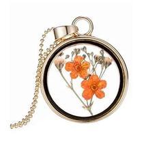 2 Pieces Of Nice Orange Flower Specimens Pendant For Wishing Bottle Necklace