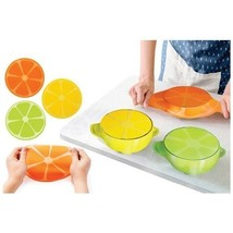 4 MULTI FUNCTION SILICONE WRAPS * BOWL SILICONE STRETCHY LIDS COVER SEAL... - $16.51