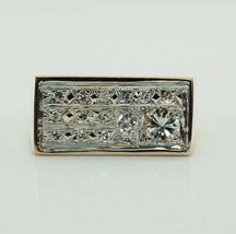 Mens Diamond Ring 14K Gold Band Vintage .76 TDW  - $1,980.00