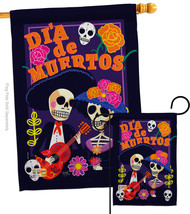 Dia de Muertos Couple - Impressions Decorative Flags Set S112077-BO - $57.97