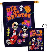 Dia de Muertos Couple - Impressions Decorative Flags Set S112077-BO - $57.97