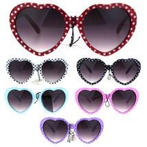 Girls Child Size Retro Polka Dot Valentine Love Plastic Sunglasses - $9.95