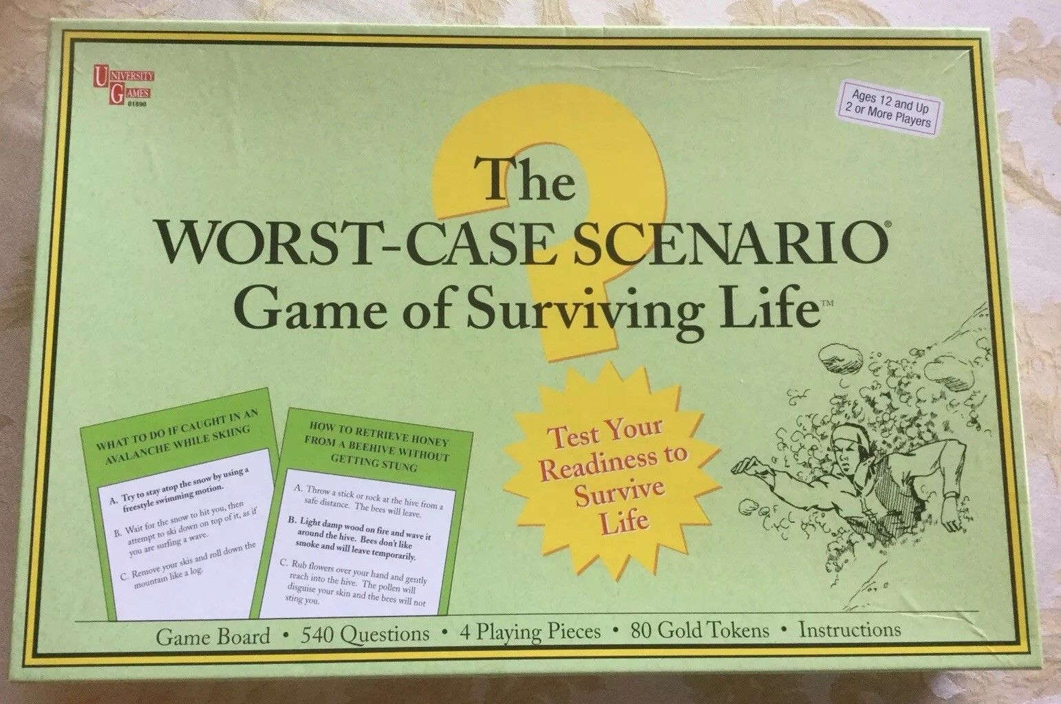 The Worst Case Scenario Game of Surviving Life Board Game New Factory Sealed