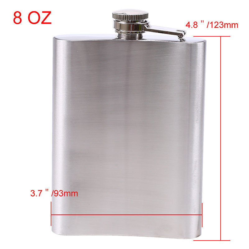 Polish Pin Up Girls D10 Flask 8oz Stainless Steel Hip Drinking Whiskey