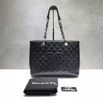 BRAND NEW AUTH CHANEL QUILTED CAVIAR GST GRAND SHOPPING TOTE BAG SHW  image 1