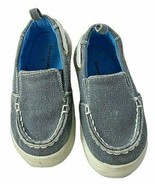 Garanimals Toddler Baby Boy Size 5 Deck Shoes Blue Gray Canvas Slip on S... - $9.89