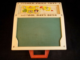 Vintage 1972 Fisher Price School Days Desk Little People Desk Only - $18.80