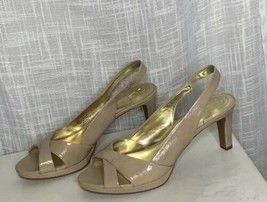 Women's Etienne Aigner Nude Medium Heel Slingback Pumps Size 9 M - $21.78
