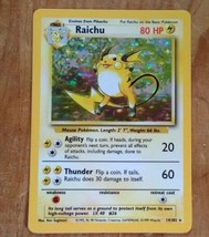 1999 Pokemon Raichu 14/102- Poliwrath holo card. #13/120 Scratches 2 Cards - $19.80