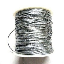 Silver Zari Cord Lace Thread Yarn Dori Crochet Embroidery Jewelry- 70 Ya... - $6.30