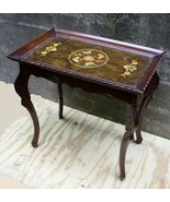 Vintage Antique Old Carved Ornate Wood Wooden Side End Accent Foyer Hall Table - $170.99