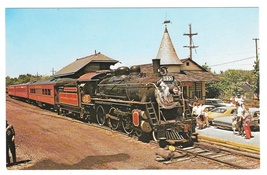 New Hope Ivyland Railroad Bucks County PA Steam Train at Station 1972 Po... - $4.99