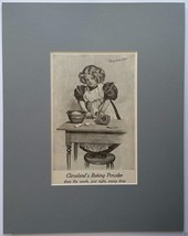 """Cleveland's Baking Powder 1897 Ad - matted in NEW 11"""" x 14"""" in Gray mat... - $14.00"""