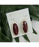 Kendra Scott Elle Gold Burgundy Cats Eye Large Drop Earrings NWT - $83.66