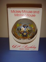 Schmid Disney Mickey Mouse And Minnie Mouse 60th Birthday Ornament - $15.99