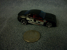 Hot Wheels Mattel 2003 Rapid Transit Black Police Car Red Interior Thailand - $1.34