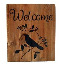 Welcome Sign Handmade Reclaimed Wood & Hand Painted - $14.25