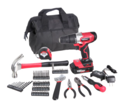 Hyper Tough 20V Max 3/8-in. Cordless Drill & 70-Piece DIY Home Tool Set ... - $54.99