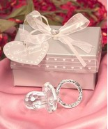 Choice Crystal Silver and Clear Baby Pacifier Shower Favor Gift Party Fa... - $6.92