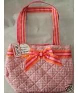 MAGGI B Quilted Tween Purse Handbag Pink Gingham NWT - $28.75