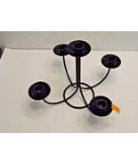 Five Arm Black Wire Table Top Candle Holder, Inside Or Out - $5.71