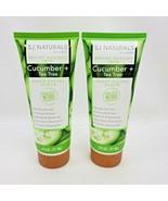 2X SJ Naturals by SJ Creations Inc Cucumber + Tea Tree Daily Facial Scru... - $26.95