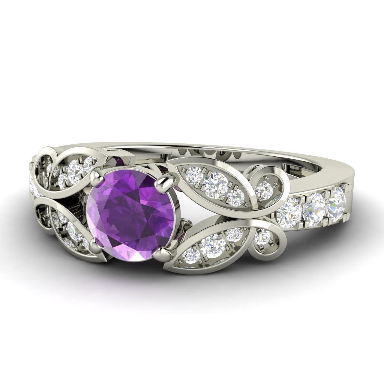 purple wedding ring 0 75 ct purple amethyst amp classic 6921