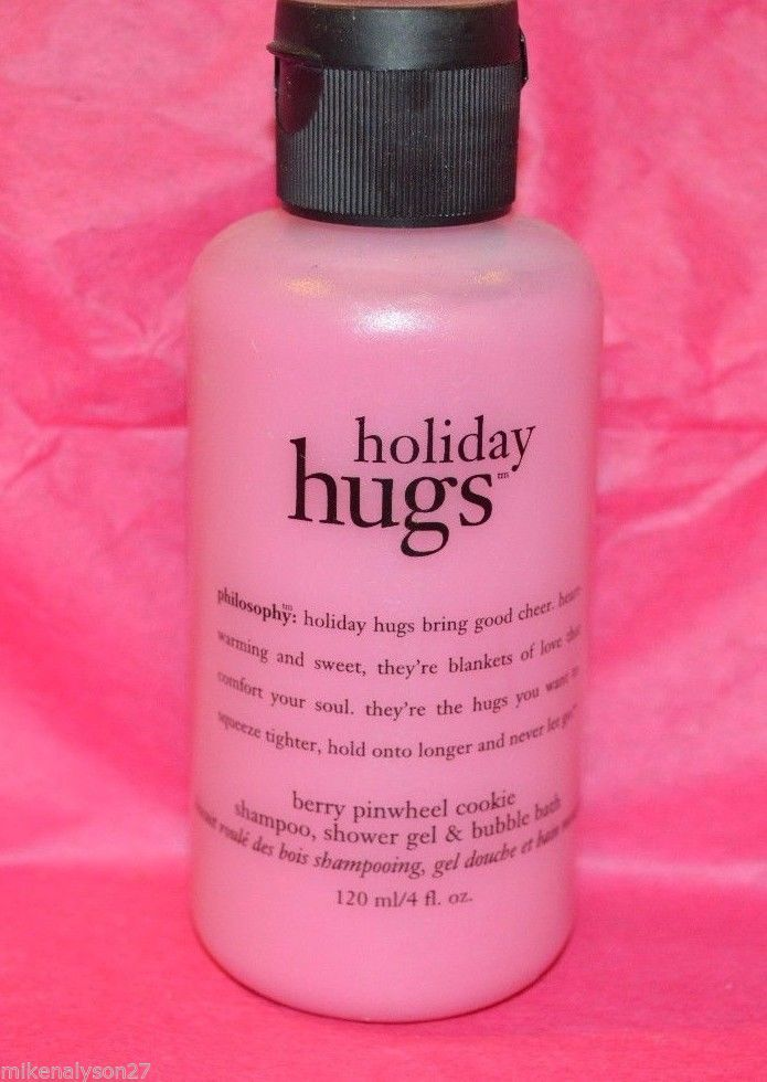 Philosophy Holiday Hugs 4oz 3-in-1 Pinwheel cookie scent shampoo bubble bath gel - $9.89