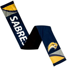 "BUFFALO SABRES NHL JERSEY MATERIAL WINTER SCARF W/ INSIDE ZIP POCKET 60""... - $14.89"