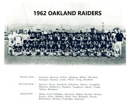 1962 OAKLAND RAIDERS 8X10 TEAM PHOTO FOOTBALL PICTURE AFL - $3.95