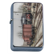 Vintage Train Stations D5 Windproof Dual Flame Torch Lighter Refillable Retro - $12.82