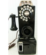 Automatic Electric Pay Telephone 3 Coin Slot 1930's Rotary Dial Restored - $1,195.00