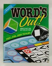 WORDS OUT Board Game Fast Fun Easy to Play 2011 Jax Ltd  - $9.49