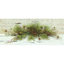 "Woodland Green Pine Needle Swag Mantle Fireplace 30"" Long  - $45.95"