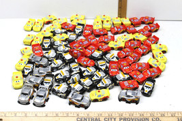 78 pc Disney Pixar Cars the Movie Police+Fire Dept+Rusteze McQueen Plast... - $35.76
