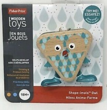 Fisher Price Wooden Toys Shape-imals Owl Playset NEW - $9.49