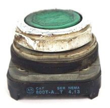 LOT OF 3 ALLEN BRADLEY 800T-A PUSH BUTTON FLUSH HEADS SER T, GREEN image 3