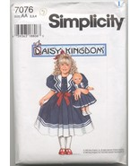 "Daisy Kingdom Dress and Doll Dress, 17"" Doll Pattern 2-3-4  - $4.70"