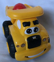 """CAT Yellow Hard Plastic Toy Truck Battery Operated Sounds 7""""x5.25 EUC - $6.93"""