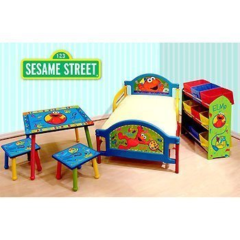 Sesame Street Elmo - Room-in-a-Box - Toddler Bed / Table ...
