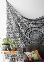 Black and White Tapestry Beach Towel Throw Blanket - $18.59